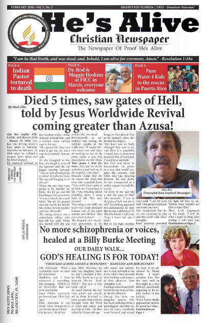 HE'S ALIVE February 2018 Edition